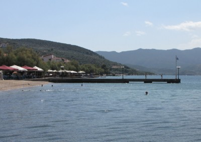 The beach at the village of Milina