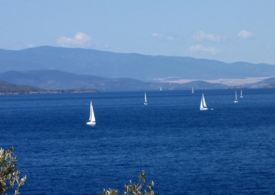 Sailing boats in The sea in Milina